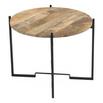 Stolik z konstrukcją z żelaza WOOX LIVING Fera, ⌀ 63 cm