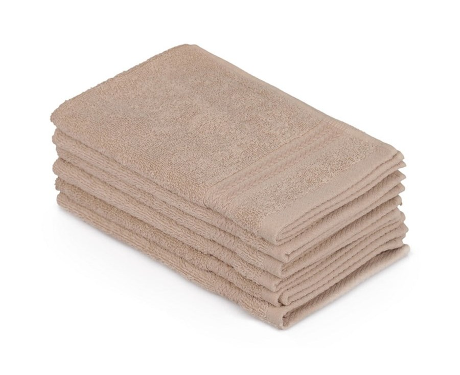 b5cf8967637b5c Zestaw 6 beżowych ręczników łazienkowych, 50x30 cm - Ręczniki - zdjęcia,  pomysły, inspiracje - homebook