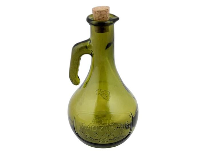 Zielona butelka na ocet ze szkła z recyklingu Ego Dekor Di Vino, 500 ml Zestaw do przypraw Szkło Kolor Zielony Pojemnik na ocet i oliwę Kategoria Przyprawniki