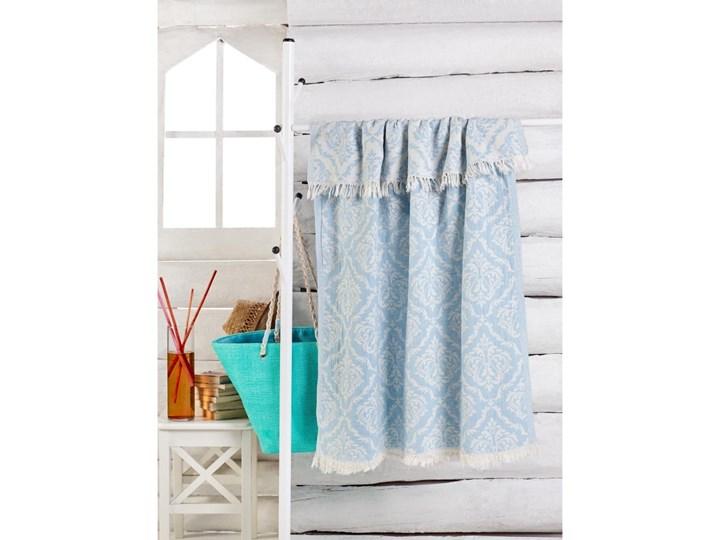 Jasnoniebieski ręcznik Varak, 180x100 cm Bawełna 100x180 cm
