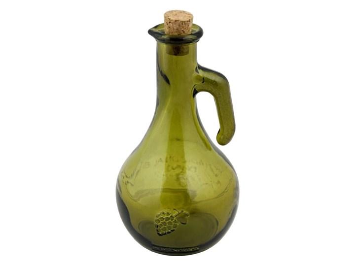 Zielona butelka na ocet ze szkła z recyklingu Ego Dekor Di Vino, 500 ml Pojemnik na ocet i oliwę Zestaw do przypraw Szkło Kolor Zielony