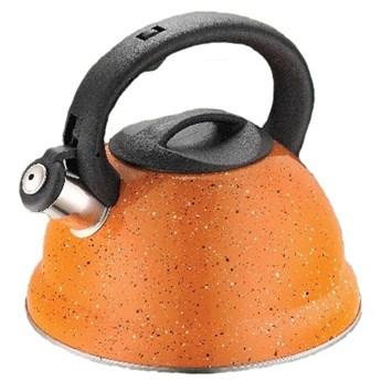 Pomarańczowy czajnik z gwizdkiem Kinghoff