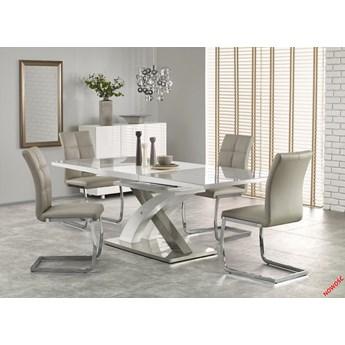 Rozkładany stół ORNEL - biało-popielaty