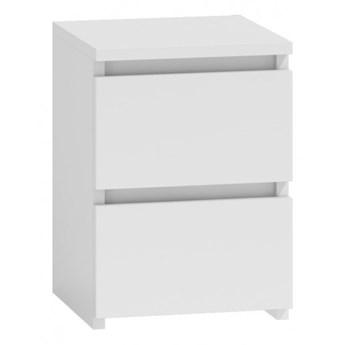 Biała szafka nocna DOROHY - półmat i wysoki połysk