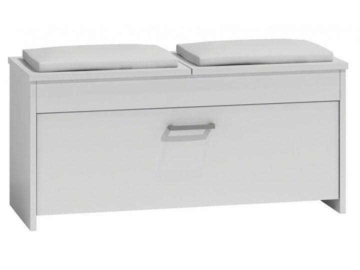 Znakomita szafka na buty FRESCA - biała Płyta laminowana Płyta MDF Metal Płyta meblowa Styl Minimalistyczny Typ Z siedziskiem