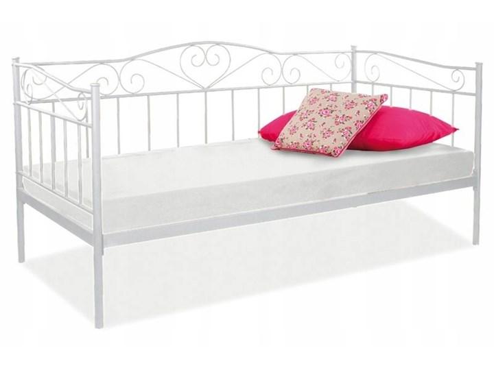 łóżko Metalowe Białe 90x200 Cm