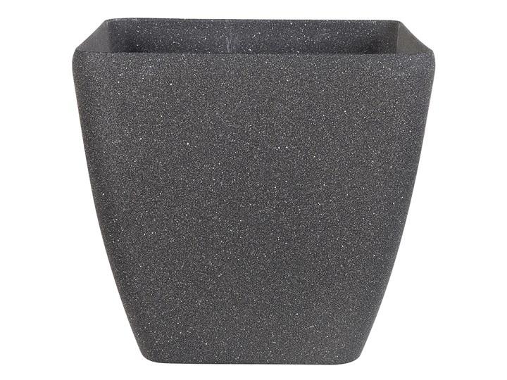Doniczka ciemnoszara kwadratowa 34 x 34 cm do ogrodu Kwadratowy Kamień Kategoria Donice ogrodowe Donica ogrodowa Kolor Szary