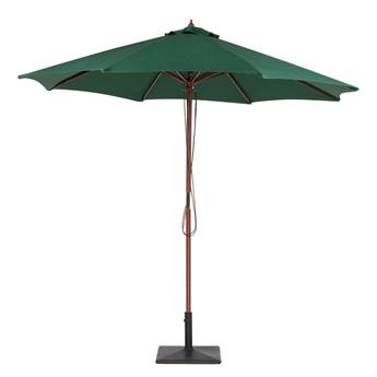 Parasol ogrodowy zielony składany duży 270 x 254 cm