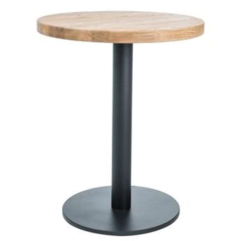 Stół na jednej nodze z dębowym blatem okrągłym Puro II