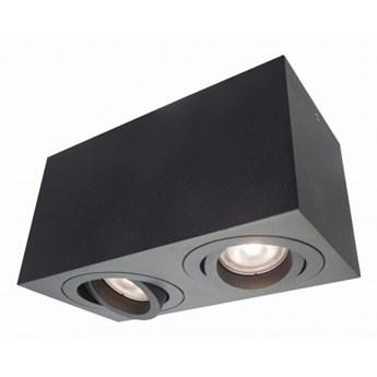LYON oprawa natynkowa 2 x 50W GU10 czarna prosta nowoczesna ruchoma Light Prestige LP-5881/2SM BK