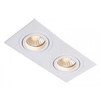 METIS oprawa wpuszczana 2 x 50W GU10  biała prosta płaska podwójna Light Prestige LP-2780/2RS WH