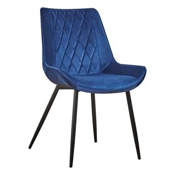 Krzesło DAI niebieski aksamit