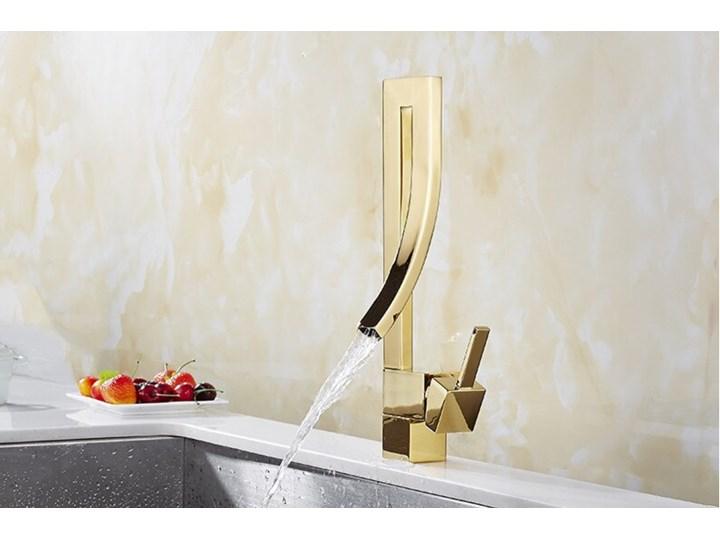 BATERIA  ŁAZIENKOWA , WODOSPAD , NEW  DESIGN  GOLDEN Bateria stojąca Wykończenie Mosiądz Kolor Złoty