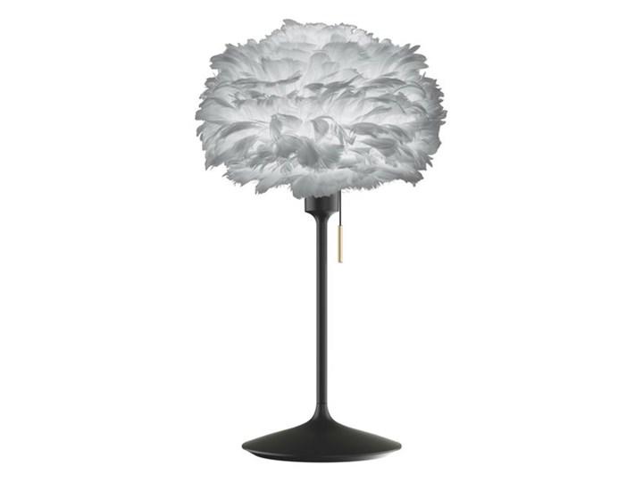 CHAMPAGNE EOS MINI-Lampa stojąca wtyczka USB Metal/Pióra Ø35cm