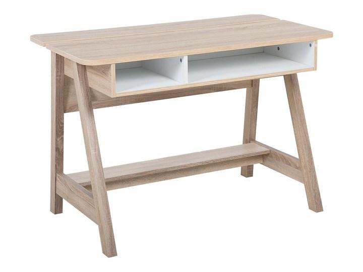 Biurko jasne drewno 110 x 60 x 75 cm styl skandynawski Szerokość 110 cm Biurko konsola Płyta MDF Głębokość 60 cm Styl Nowoczesny
