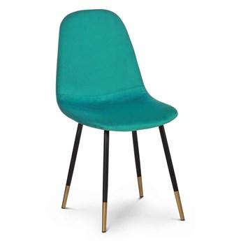 Krzesło VR turkus aksamit / hex