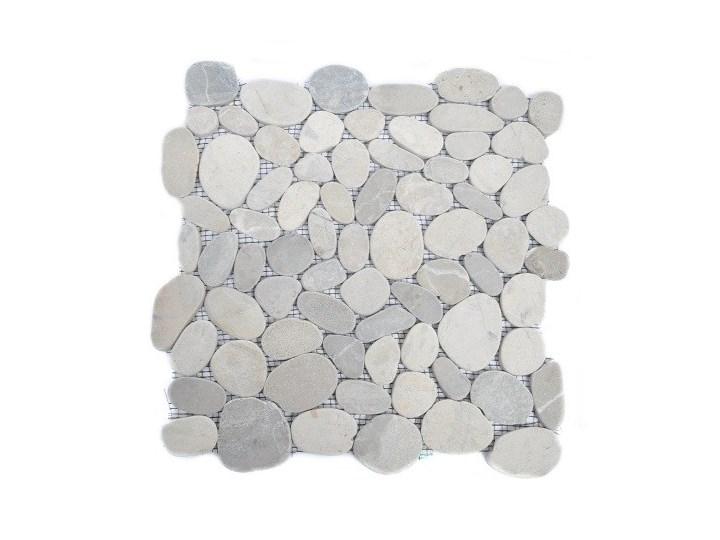 Grey Sumba Interlock Szare Cięte Otoczaki Mozaika Kamienna