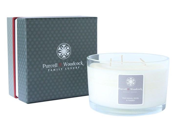 Świeca zapachowa Patchouli Noir and Amber, 3-knoty - Purcell & Woodcock - DECOSALON - 100% zadowolonych klientów!