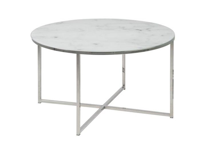 Stolik kawowy ze szklanym blatem Alisma 80x45 cm Marmur Marmur Marmur Szkło Szkło Szkło Marmur Szkło