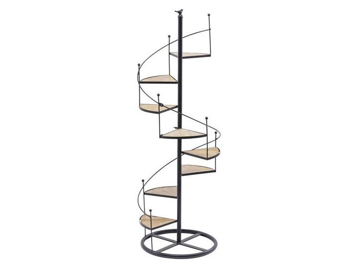 Dekoracja Stairs Spiral Drewno Metal Drewno Metal