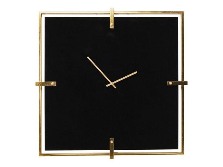 Zegar ścienny Black Mamba 91x91 cm Kwadratowy Drewno Metal Szkło Metal Drewno Szkło Styl Glamour