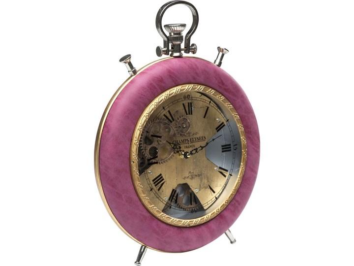 Zegar Velvet Pink Time Zegar stołowy Szkło Szkło Tworzywo sztuczne Tworzywo sztuczne Okrągły Styl Nowoczesny