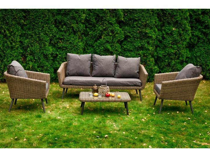Nowoczesne meble z technorattanu ANTICO sofa 3 osobowa Zestawy wypoczynkowe Aluminium Tworzywo sztuczne Zawartość zestawu Fotele