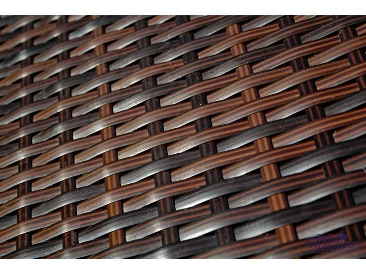 Meble obiadowe z czarnego technorattanu GUSTOSO Zawartość zestawu Krzesła Zestawy obiadowe Tworzywo sztuczne Aluminium Stoły z krzesłami Zawartość zestawu Stół