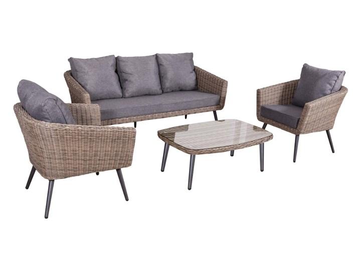 Nowoczesne meble z technorattanu ANTICO sofa 3 osobowa Kategoria Zestawy mebli ogrodowych Zestawy wypoczynkowe Tworzywo sztuczne Aluminium Styl Nowoczesny