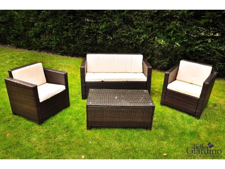 Zestaw ogrodowy CALMO brązowy technorattan Zestawy wypoczynkowe Stal Tworzywo sztuczne Zawartość zestawu Fotele