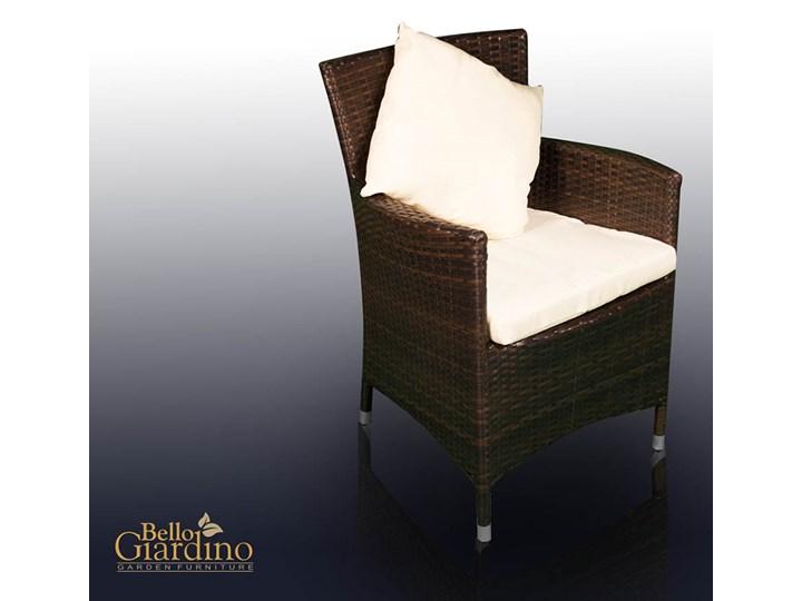 Meble obiadowe z czarnego technorattanu GUSTOSO Zestawy obiadowe Tworzywo sztuczne Stoły z krzesłami Aluminium Kolor Czarny