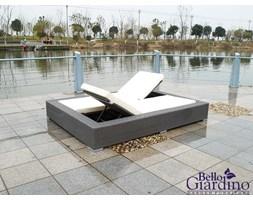 Technorattanowe łóżko ogrodowe UMILE szare