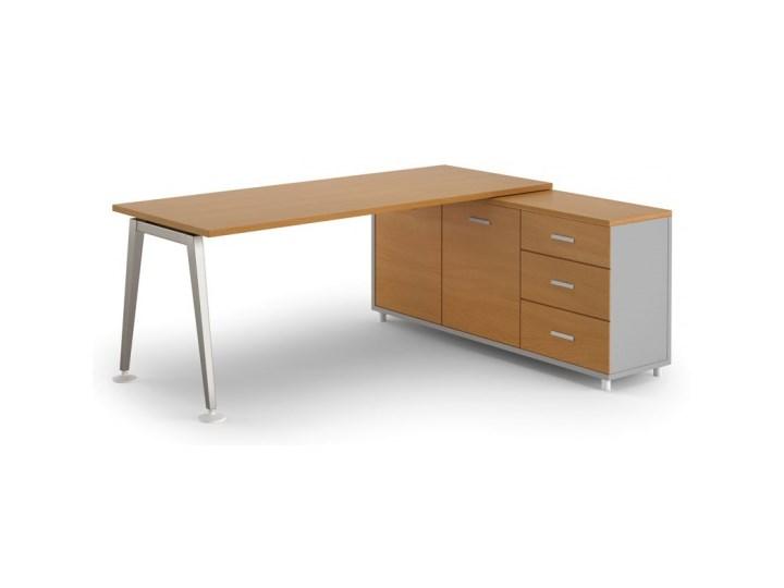 Stół Alfa z szafką 1800 x 800 mm prawy, buk