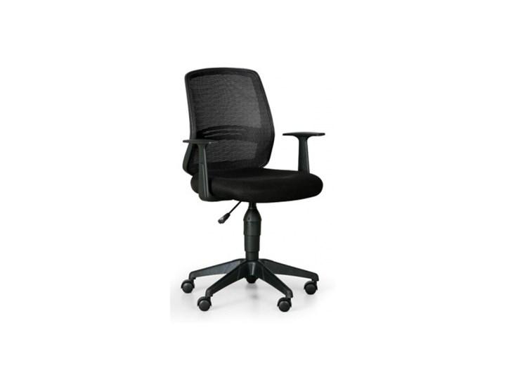 Krzesło biurowe Ekonomy, czarny Głębokość 48 cm Wysokość 47 cm Szerokość 49 cm Tkanina Wysokość 43 cm Tapicerowane Wysokość 88 cm Tworzywo sztuczne Z podłokietnikiem Pomieszczenie Biuro i pracownia