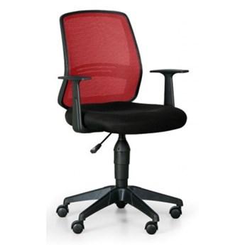 Krzesło biurowe Ekonomy, czerwony