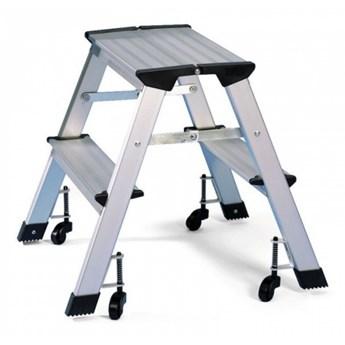 Aluminiowe schodki na kółkach 420 mm