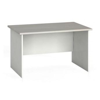 Stół biurowy prosty 120 x 80 cm, biały/dąb naturalny