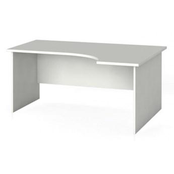 Biurko ergonomiczne PRIMO 160 x 120 cm, białe, prawe