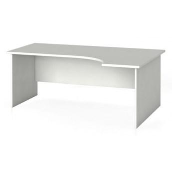 Biurko ergonomiczne PRIMO 180 x 120 cm, białe, prawe