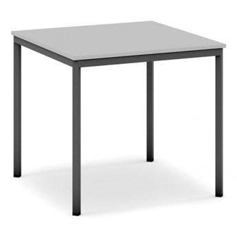 Stół do jadalni i stołówki, ciemnoszara konstrukcja, 800x800 mm, szary