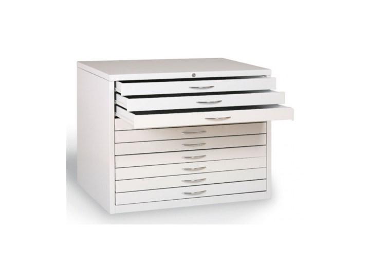 Szafka z szufladami na wykresy A0, 5 szuflad Ilość szuflad Wieloszufladowe Metal Stal Kategoria Szafki i regały
