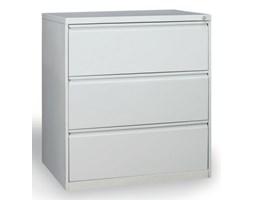 Dwurzędowa szafa kartotekowa A4, 3 szuflady, kolor szary