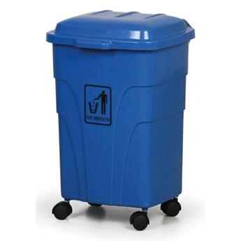 Mobilny kosz na śmieci 70 litrów, niebieski