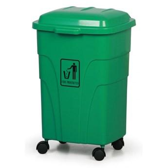 Mobilny kosz na śmieci 70 litrów, zielony