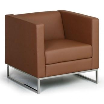 Fotel Cube, brązowy