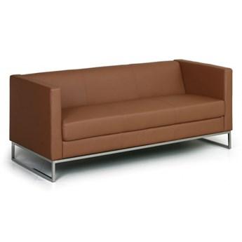 Sofa Cube, 3-miejscowa, brązowy