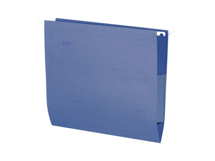 Teczki zawieszane z bocznymi zabezpieczeniami, niebieske, 50 szt.