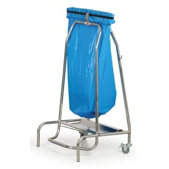 Nierdzewny stojak na worki na odpady