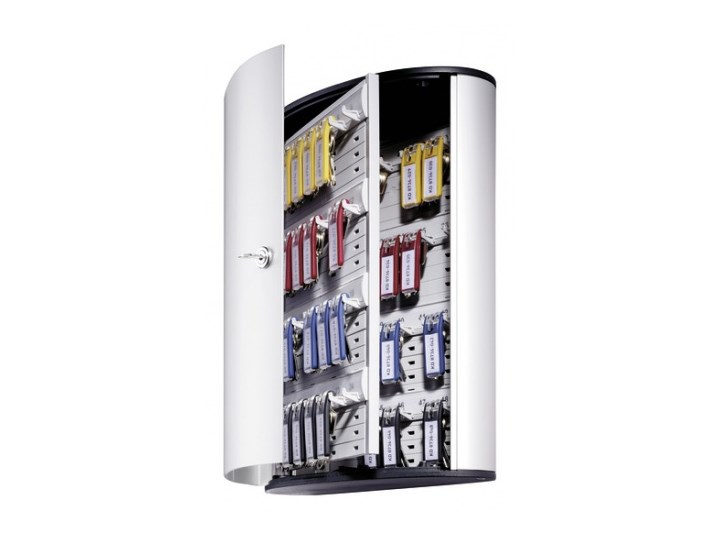 Szafka na klucze KEY BOX 48 kluczy Aluminium Kolor Czarny