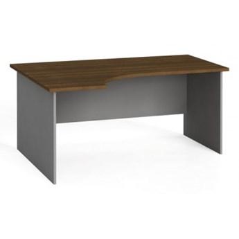 Stół biurowy ergonomiczny 160x120 cm, orzech, lewy